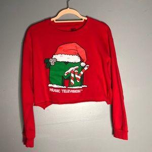Crop too sweater